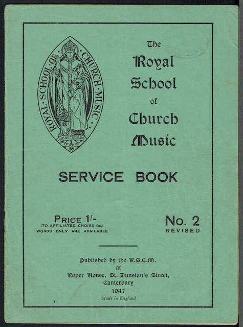 Image for The Royal School Of Church Music Service Book No. 2 (Revised)