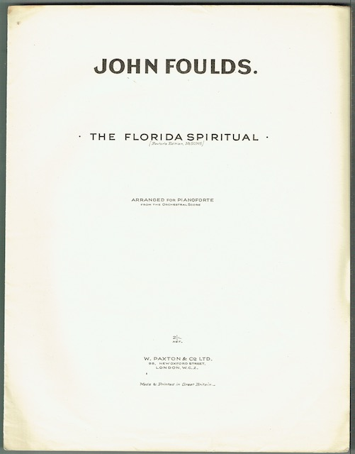 Image for The Florida Spiritual (Paxton's Edition No. 50745)