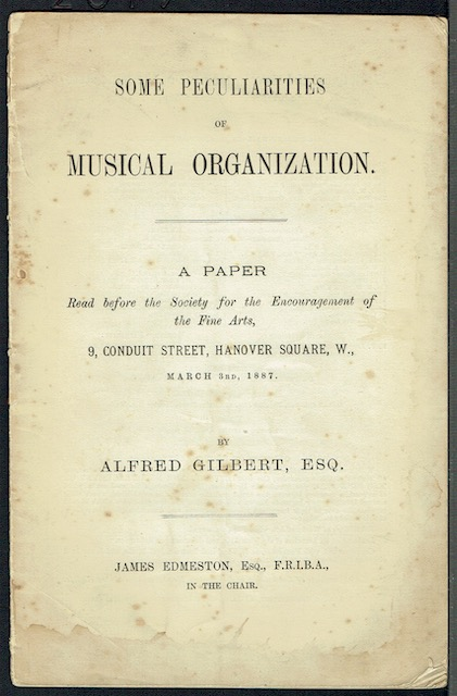 Image for Some Peculiarities Of Musical Organisation: A Paper read before the Society for the Encouragement of the Fine Arts, March 3rd 1887