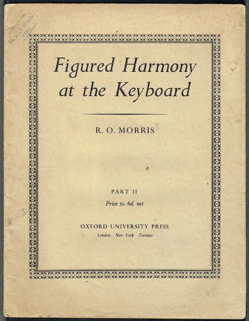 Image for Figured Harmony At The Keyboard, Part II