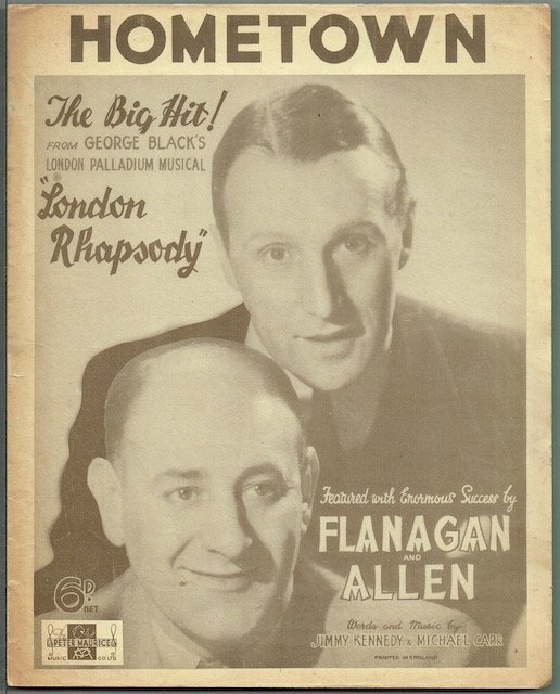 Image for Hometown, from the musical 'London Rhapsody', featured by Flanagan and Allen