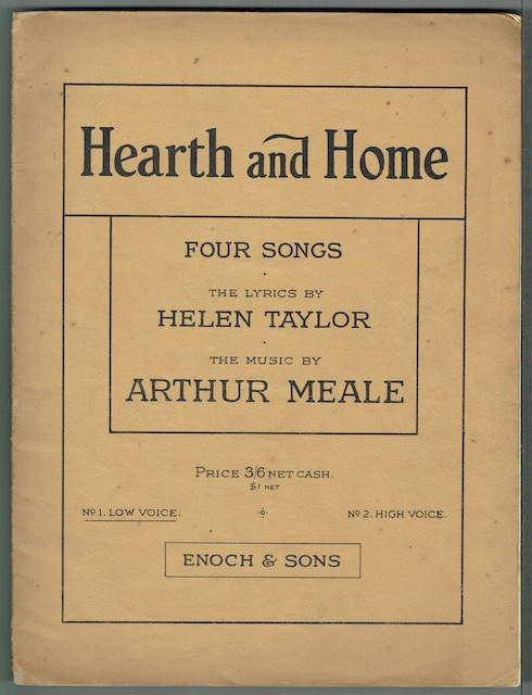 Image for Hearth And Home: Four Songs, No. 1. Low Voice