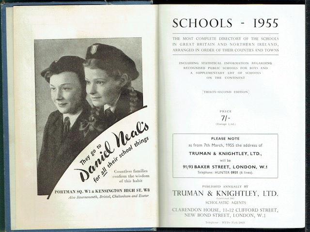 Image for Schools - 1955: The Most Complete Directory Of The Schools In Great Britain And Northern Ireland, Arranged In Order Of Their Counties And Towns