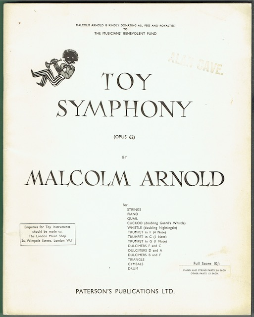 Image for Toy Symphony (Opus 62). Full Score