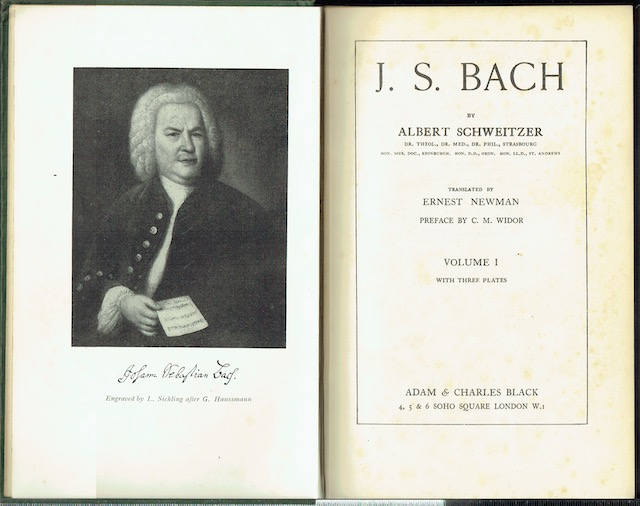 Image for J. S. Bach In Two Volumes: Translated By Ernest Newman, Preface By C. M Widor