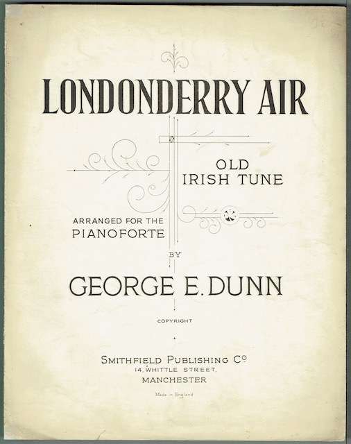 Image for Londonderry Air: Old Irish Air Arranged For The Pianoforte