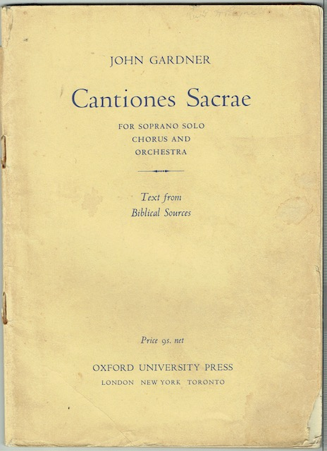 Image for Cantiones Sacrae  For Soprano Solo, Chorus And Orchestra: Vocal Score
