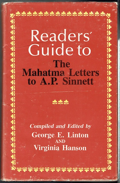 Image for Readers' Guide To The Mahatma Letters To A. P. Sinnett