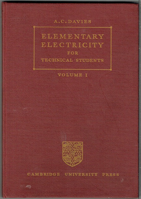 Image for Elementary Electricity For Students Volume I
