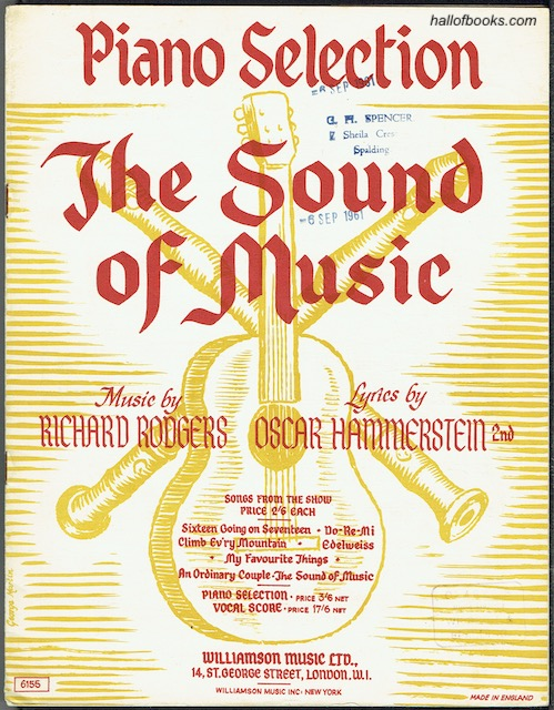Image for The Sound Of Music Piano Selection
