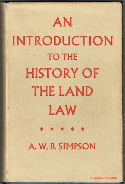 Image for An Introduction To The History Of The Land Law