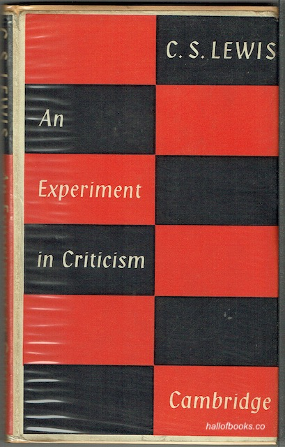 Image for An Experiment In Criticism