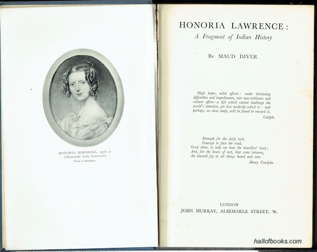 Image for Honoria Lawrence: A Fragment Of Indian History