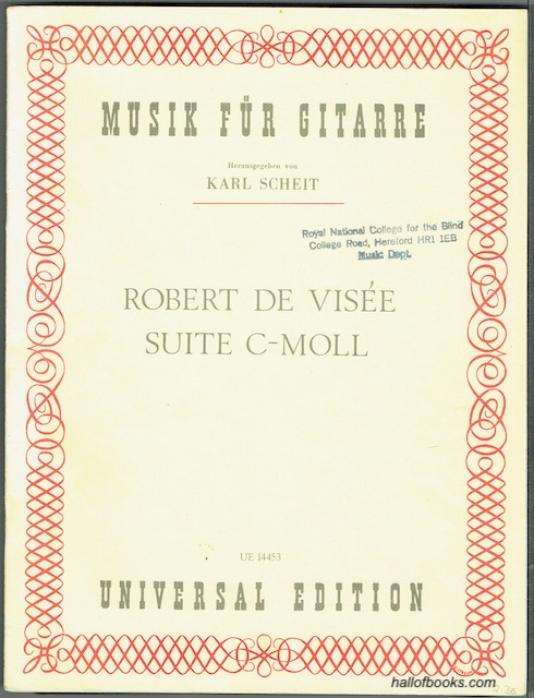 Image for Suite C-Moll For Melodic Instrument And Guitar (UE 14453)
