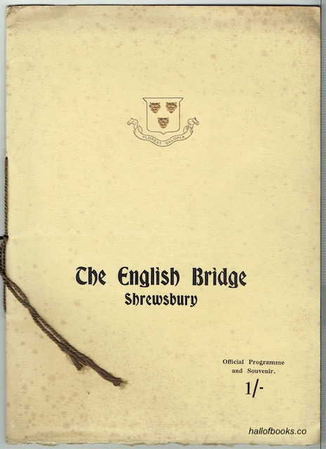 Image for The English Bridge, Shrewsbury: Offical Programme and Souvenir