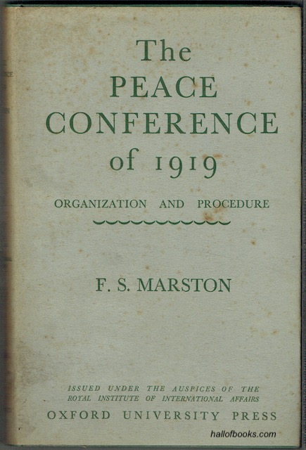 Image for The Peace Conference Of 1919: Organisation And Procedure